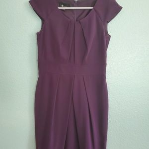 AB Studio purple semiformal dress with cap sleeves
